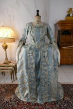 2 antique robe a la francaise 1770