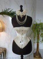 3 antique wedding corset 1880