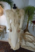19 antique wedding Gown 1895