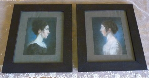2 antique painting empire 1813