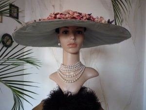 antique hat, antique summer hat, summer hat 1910, hat 1910, antique dress, antique gown, edwardian hat, chapeau ancien, шляпе 1900, шляпе 1910