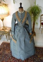 8 antique reception gown 1865
