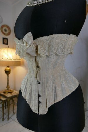 antique silk corset 1901