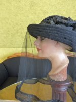 8 antique mourning Hat 1905