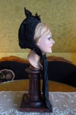 12 antique mourning bonnet