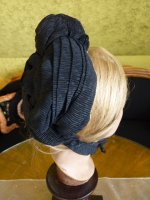 10 antique mourning bonnet