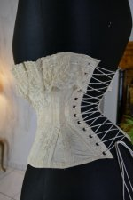 12 antique silk corset 1901