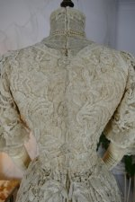 30 antique ALTMANN Battenburg lace dress 1904