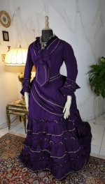3 antique bustle dress 1874
