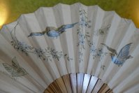 3 antique bird fan 1905