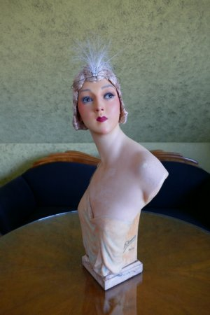 antique Pierre Imans wax mannequin 1920