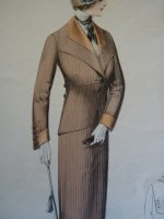 2 antique fashion gravure 1909