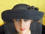 5 antique mourning Hat 1905