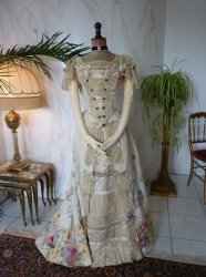 antique evening gown Henriette Tissier 1895
