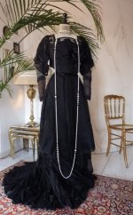 Art Noveau Dress, Art Nouveau Gown, antique gown, antique dress, Dress 1910, gown 1910, antique evening gown, antique afternoon dress, abito antico, antique reception dress