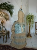 44 antique bustle dress 1884