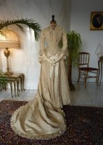 36 antique bridal dress 1877