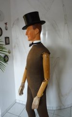 antique mannequin, mannequin 20s, mannequin 1920s, male mannequin, antique male mannequin in life size, Austrian mannequin, antique Man Dressmaker's Form, Dressmaker's Form 20s