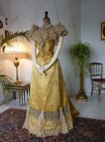 6 antique ball gown 1895