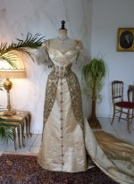 3 WORTH evening dress 1898