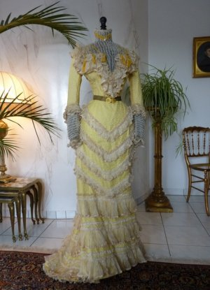 antique reception gown