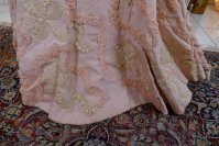 24 antique Rousset Paris society dress 1899