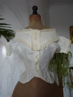 2 antique corset cover 1860