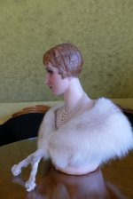 9 antique wax Bust 1920