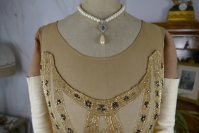 1 antique beaded flapper evening dress 1922