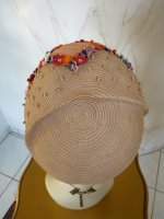 antique hat, antique sommer hat, sommer hat 1920, hat 1925, antique dress, antique gown, hat 20s, chapeau ancien, Cloche 1920, Cloche 1925, strow hat 1925