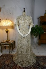 16 antique ALTMANN Battenburg lace dress 1904