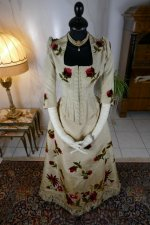 3 antique bustle dress 1880