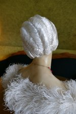 8 antique hair cloche 1920