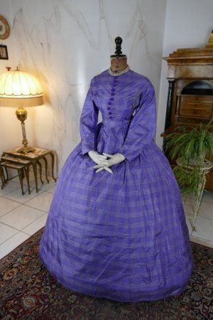 antique crinoline dress 1860