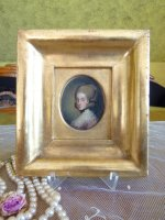 14 antique miniature portrait 1770