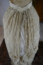 75 antique bustle Overgown 1880
