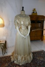 6 antique ball gown 1900