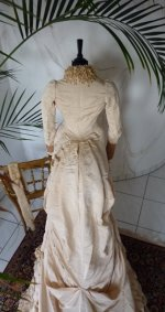 40 antique bustle gown