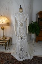 2 antique irish crochet dress 1904