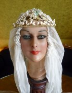 2 antique wax tiara 1920