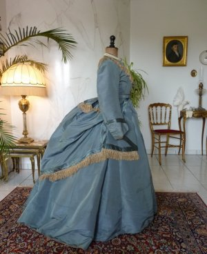 antique reception gown 1865
