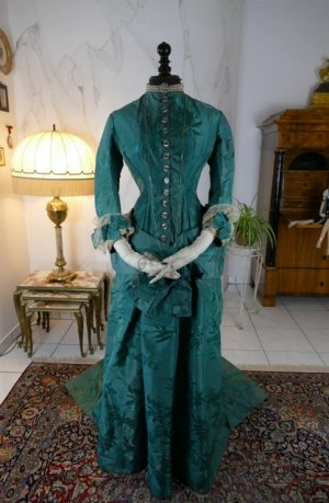 antique princess Bustle dress 1878