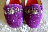 1 antique boudoir slippers 1885 1900