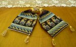 2 antique misers purse 1840