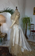 24 antique evening dress WORTH 1898