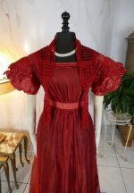 3 antique gauze dress 1828