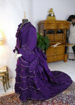 17 antique bustle dress 1874