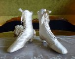 2 antique wedding shoes 1875