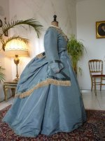 9 antique reception gown 1865
