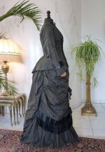 19 antique bustle day dress 1875